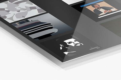 Drake Album History  Metal Poster, Rap Music Aluminum Wall Art