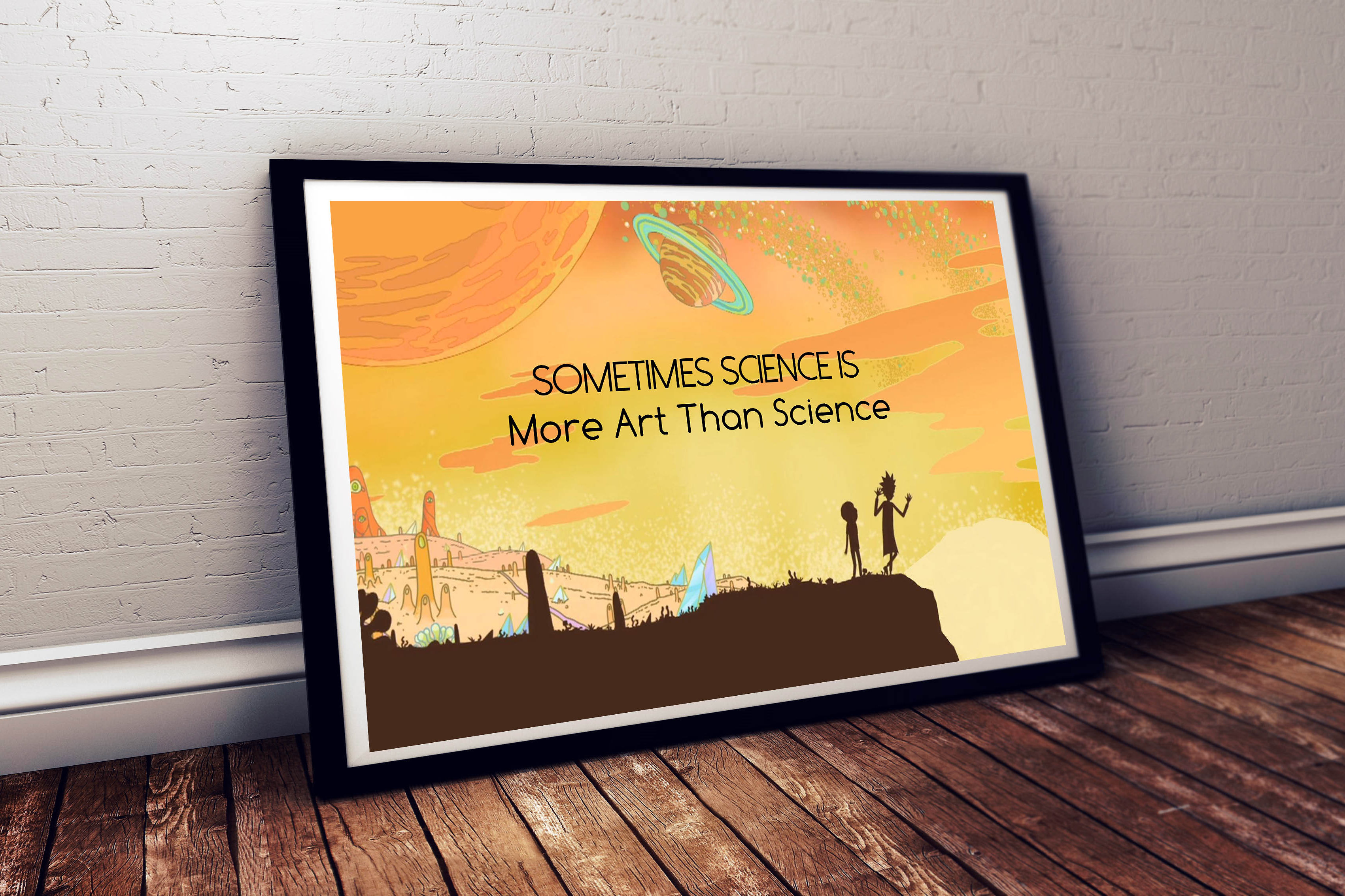 Rick and Morty Science Is More Art Than Science Poster, Galaxy Poster