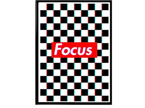 Focus Box Logo Poster, Hypebeast Poster, Streetwear Poster