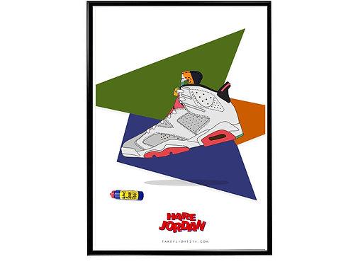 Hare Jordan 7 Sneaker Poster, Hypebeast Poster, Kicks Pos