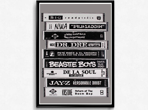 Classic Hip Hop Tape Poster Art, Hypebeast Print Pop Culture Art Music Poster