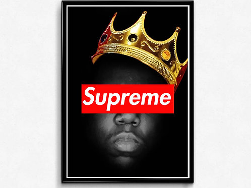 Notorious Big Supreme Poster, Graffiti Art Poster, Hypebeast Wall Art