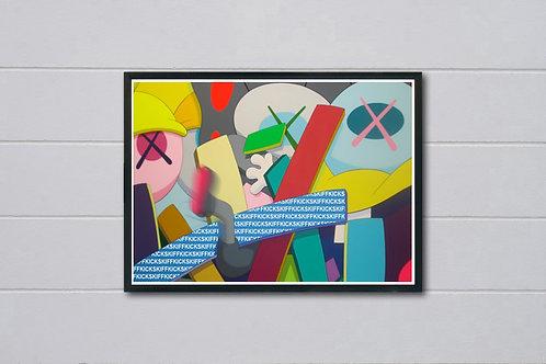 Art Falling Poster, Hypebeast Poster Print, Pop Culture Wall Decor