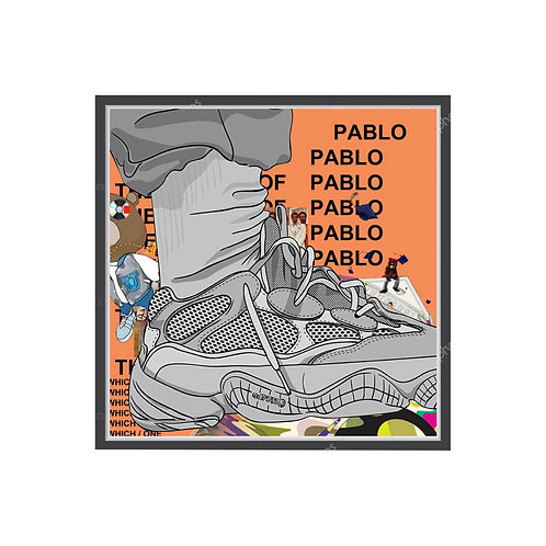 Yeezy Boost 500 Collage Poster, Hypebeast Poster Music Pop Culture Wall Art