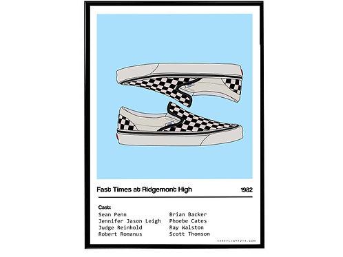 Fast Times At Ridgemont High Movie Vans Sneaker Poster, Hypebeast