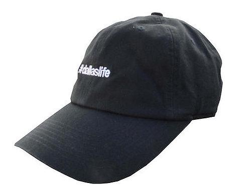 Custom Dallas Life Cotton Black Adjustable Dad Hat