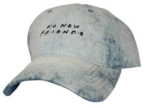 No New Friends Bleached Denim Drake 6 God OVO Low Profile Dad Hat