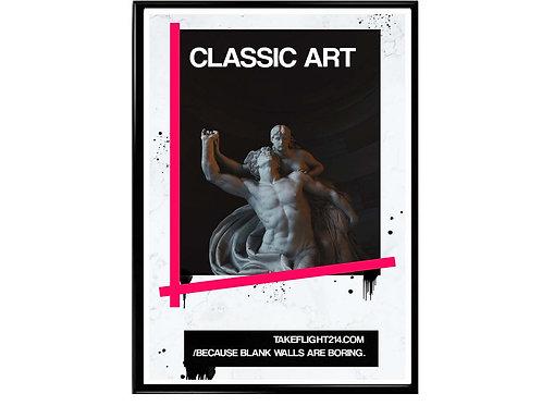 Classic Art Statue Graffiti Poster, Hypebeast Poster, Streetwear Poster