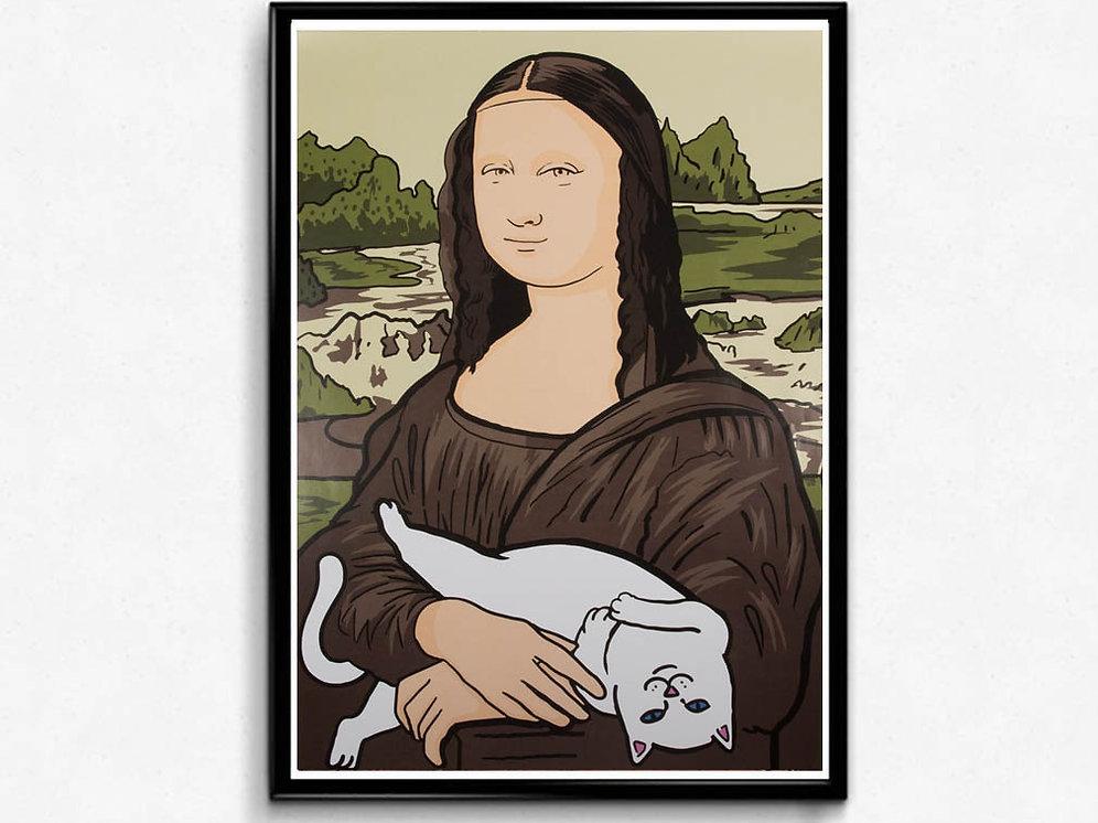 Mona Lisa Ripndip Poster Hypebeast Poster Print Classic