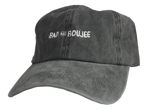 Bad and Boujee Stone Wash Meme Twill Cotton Migos Lil Uzi Vert Low Profile Dad