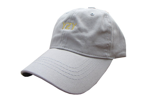 Custom YZY Gray Yeezy Boost Yeezus Cotton Dad Hat