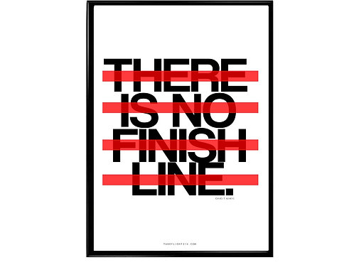 No Finish Line Motivational Poster, Hypebeast Poster