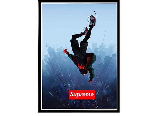 Spiderverse Supreme Box Logo Pop Art Poster, Hypebeast Poster, Street Art Poster