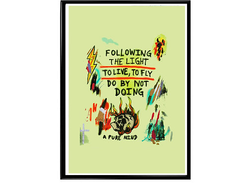 Kanye West Follow The Light Poster, Hypebeast Poster, Music Poster