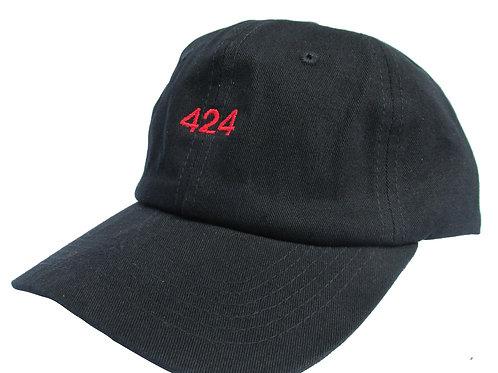 424 Black Emoji Meme Twill Cotton Adjustable Dad Hat