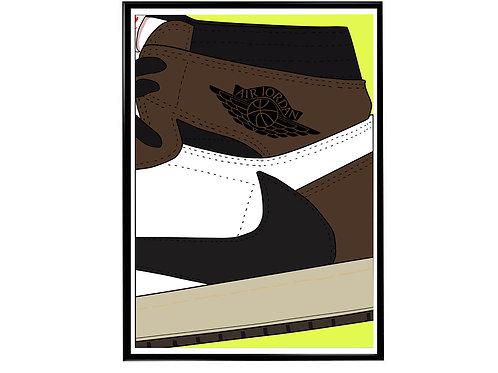 Travis Scott Jordan 1 Poster, Hypebeast Poster, Sneaker Poster, Motivational Sl