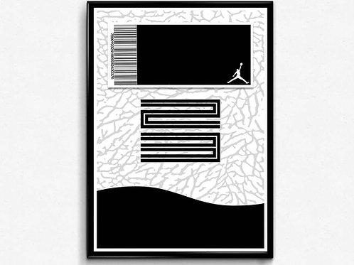Retro 11 Sneaker Poster Pop Culture Hypebeast Poster Sneaker Wall Art