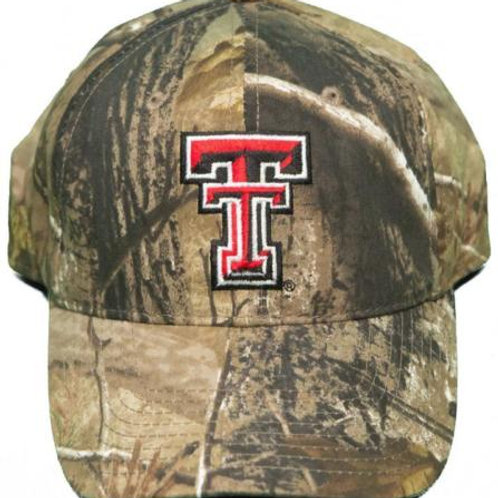 Texas Tech Red Raiders Buckle Back Dad Hat Embroidered Mothwing Camo Dad Cap
