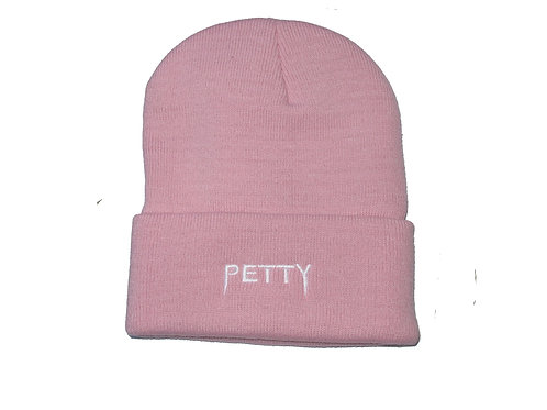 Petty Yeezus Font Meme Pink Wt. Text Beanie Knit Cap Hat