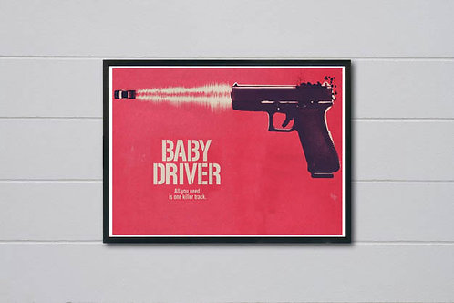 Baby Driver Alternative Art Poster, Movie Poster, Wall Art Home Decor