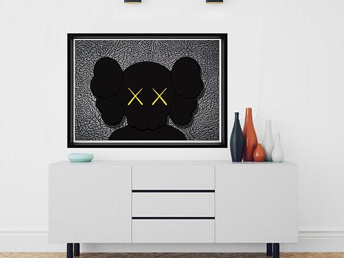 Kaws x Jordan Poster, Hypebeast Posters Prints, Elephant Print Wall Decor