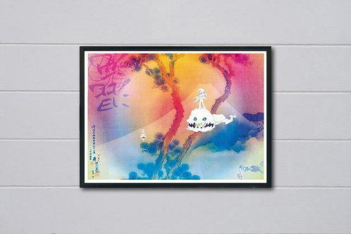 Kids See Ghost Album Poster, Hypebeast Posters Prints, Yeezy Kid Cudi Poster