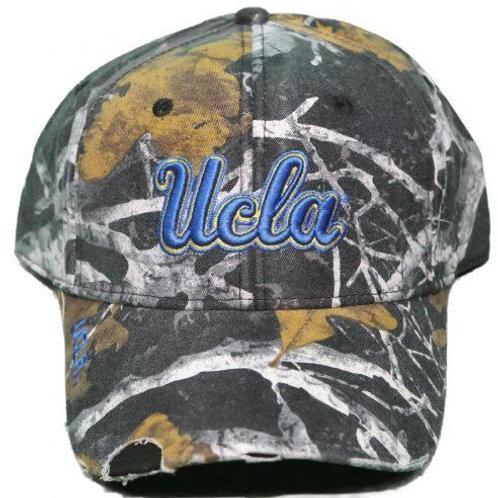 UCLA Bruins Woodland Camo Distressed Strap Back Hat Adjustable