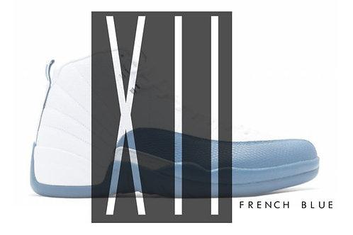 Air Jordan 12 French Blue Custom Retro Sneaker Poster Art