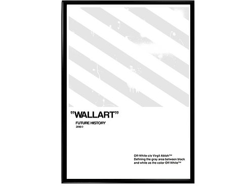 Off White Stripes Poster Hypebeast Poster Pop Culture Streetwear Decor