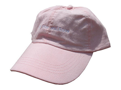 For The Culture Pink Twill Cotton Dad Hat Cap