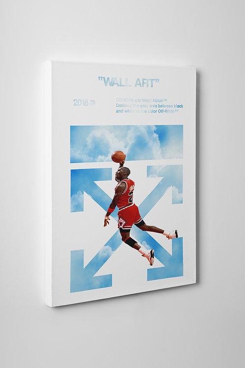 Off White x Air Jordan Canvas Art Pop Culture Canvas Hypebeast Wall Art
