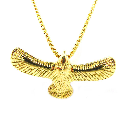 3d Hawk 14k Gold Over Stainless Steal Mini Piece