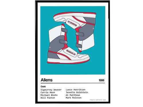 Aliens Movie Alien Stomper Sneaker Poster, Hypebeast Poster, Kicks Poster