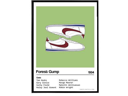 Forest Gump Movie Nike Cortez Sneaker Poster, Hypebeast