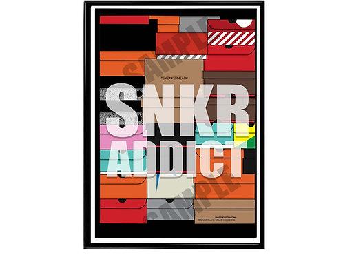 Sneaker Addict Poster, Hypebeast Sneaker Box Poster