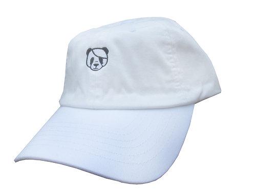 Panda Emoji Meme White Twill Cotton Dad Hat
