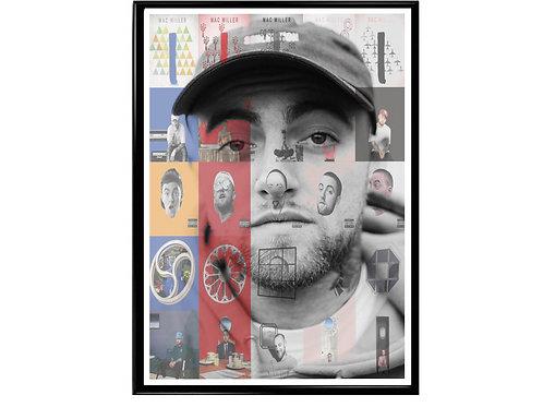 Mac Miller Abstract Album History Poster, Hypebeast Poster, Kicks Pos