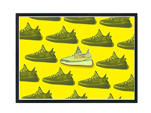 Yeezy Semi Frozen Pop Art Sneaker Poster Pop Culture Hypebeast Poster