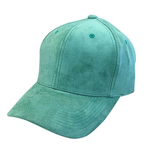 Suede Seafoam Green Solid Unisex Adjustable Low Profile Dad Hat Cap