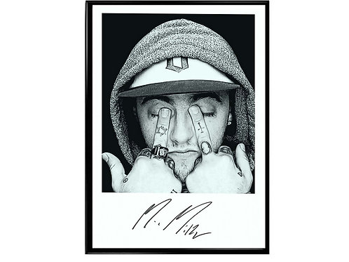 Mac Miller Signature Poster, Hypebeast Poster, Music Poster