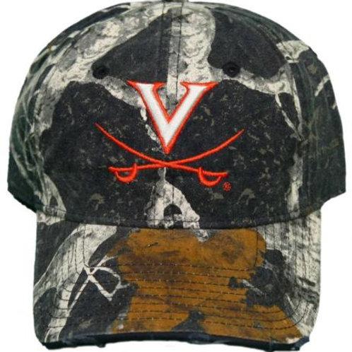 University of Virginia Cavaliers Woodland Camo Baseball Dad Cap Hat