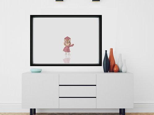 Graduation Bear Kanye West Art Poster, Yeezy Poster Print, Dorm Room Decor