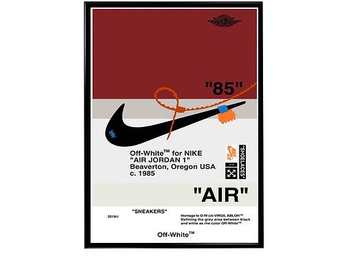 Retro OG Red Sneaker Poster Pop Culture Hypebeast Poster Sneaker Wall Art