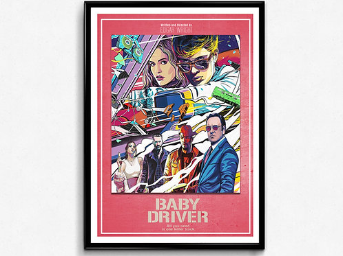 Baby Driver Alternative Art Poster, Movie Poster, Wall Art Home Decor