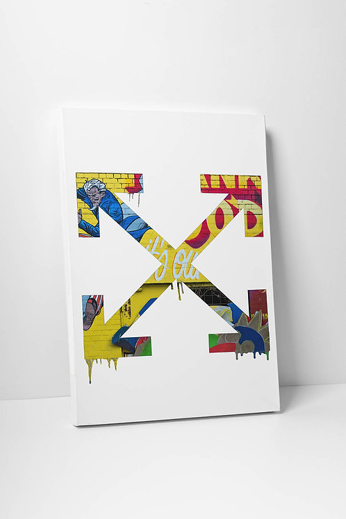 Off White Inspired Canvas Print, Hypebeast Canvas Art, Street Art Canvas