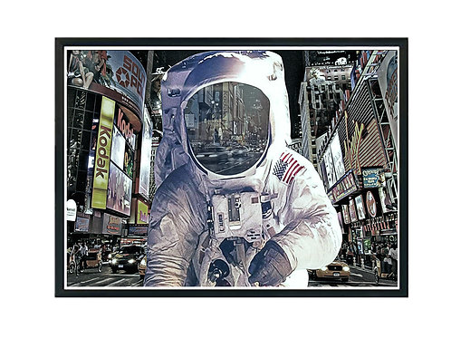 Astronaut in Times Square Poster, Hypebeast Poster Print, Modern Pop Art Poster