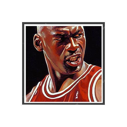 Michael Jordan Game Face Poster, Hypebeast Poster, Kicks Poster