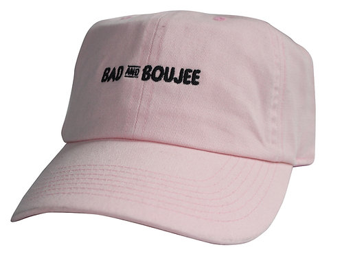 Bad and Boujee Pink Meme Twill Cotton Migos Lil Uzi Vert Low Profile Dad Hat