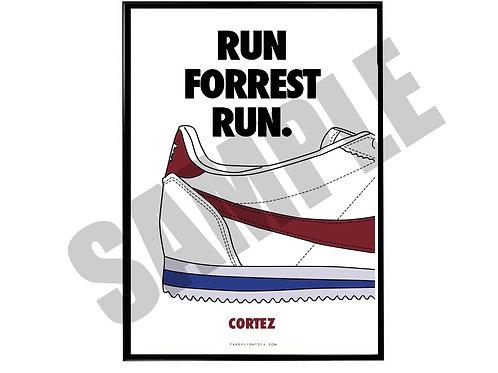 Run Forrest Run Sneaker Poster, Movie Poster