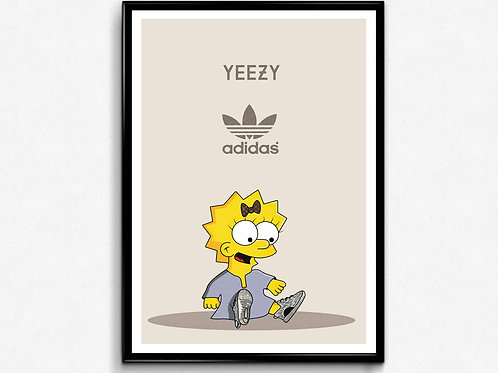 Hypebaby Simpsons Inspired Poster, Hypebeast Poster Art, Kids Room Wall Decor